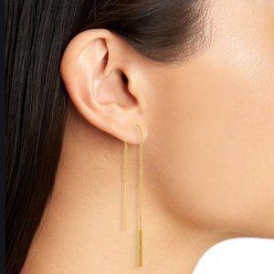 Madewell delicate threader bar earrings